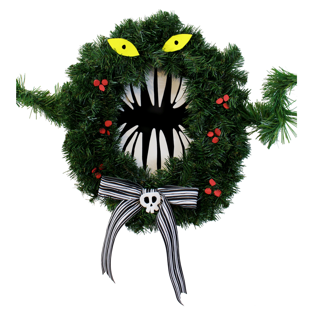 Make A Monster Wreath Inspired By Disney S The Nightmare Before Christmas Crafty Mcfangirl
