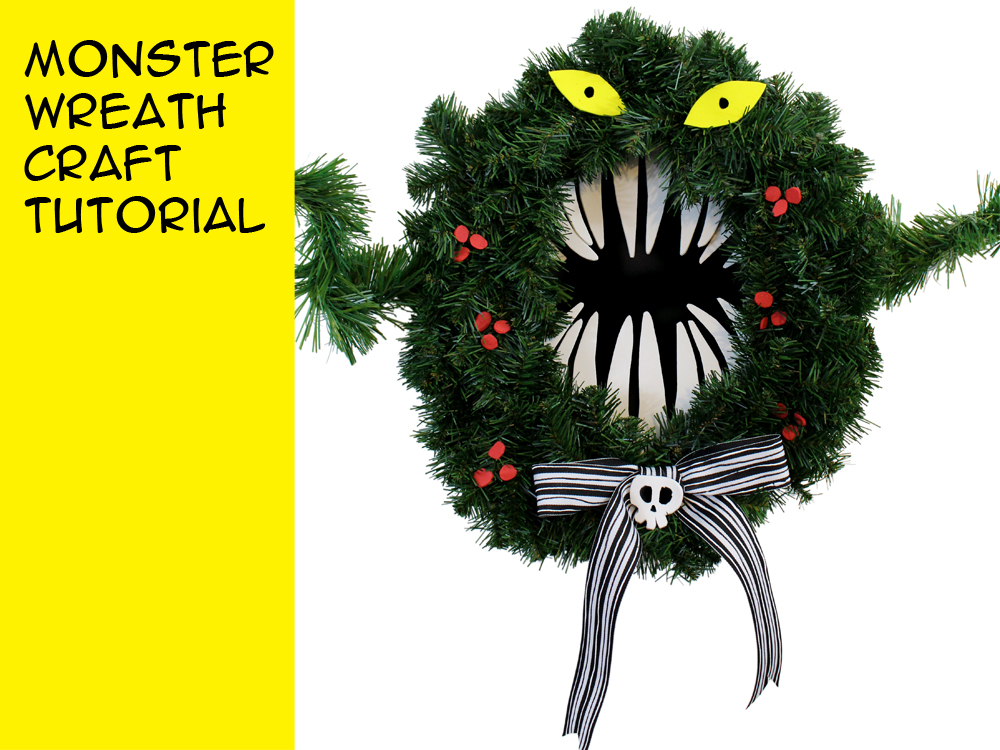 Make A Monster Wreath Inspired By Disney S The Nightmare Before